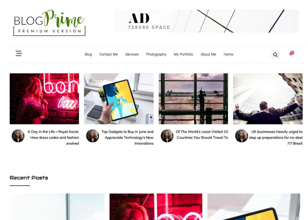 طراحی قالب وبلاگ eBlog Prime